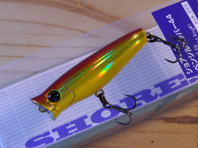 SHORES PENCIL POPPER SPP44 44mm 2.6g #2 PEARL CHART TACKLE HOUSE